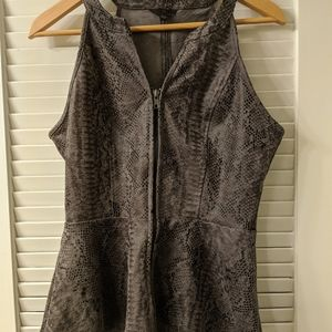 Guess faux leather snakeskin print peplum